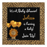 Baby Shower Invitation Cheetah Print