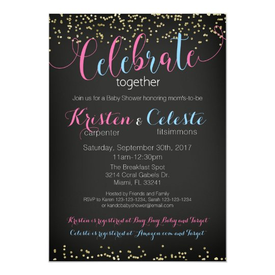 Baby Shower Invitation, combined joint friends Card