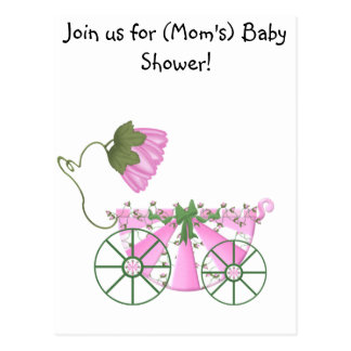 Baby Shower Invitation-Cute Pink Bathtub Postcard