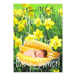 BABY SHOWER INVITATION - DAFFODILS AND BABYSLEEPIN
