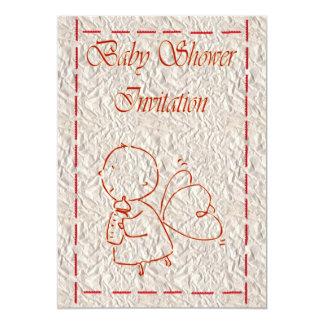 "Baby Shower Invitation Expecting baby bottle 5"" X 7"" Invitation Card"