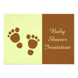 "Baby Shower Invitation for African american baby 5"" X 7"" Invitation Card"