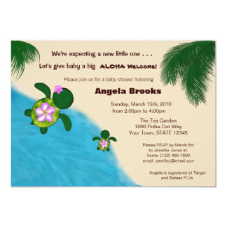 Baby Shower Invitation (Honu) Adorable Turtle
