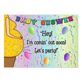 Baby Shower Invitation - I'm Coming Out Party