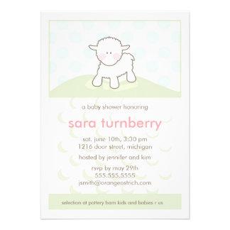 Baby Shower Invitation - Little Lamb