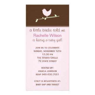 Baby Shower Invitation Picture Card