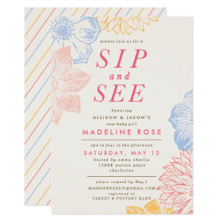 Baby Shower Invitation *Sip And See*