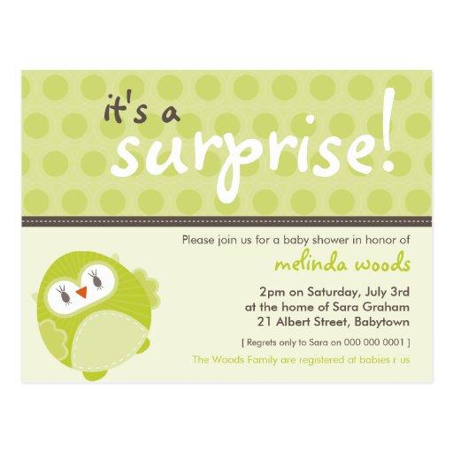 baby shower invitation surprise owl 2 zazzle