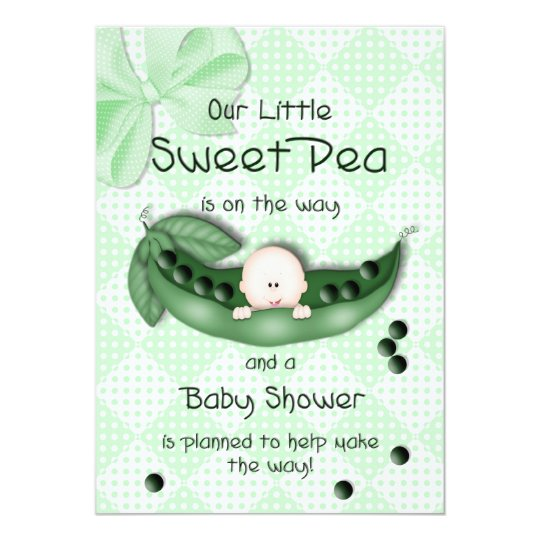 BABY SHOWER INVITATION - SWEET PEA