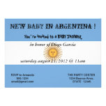 Baby Shower Invitation with Flag of Argentina
