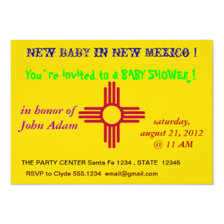 Baby Shower Invitation with Flag of New Mexico