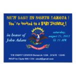 Baby Shower Invitation with Flag of North Dakota
