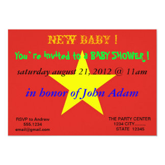 Baby Shower Invitation with Flag of Vietnam