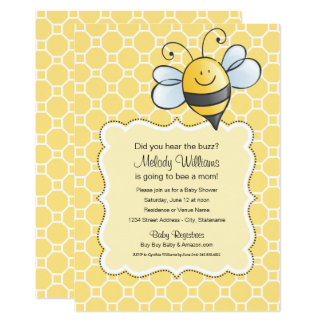 Baby Shower Invitation | Yellow Bumblebee