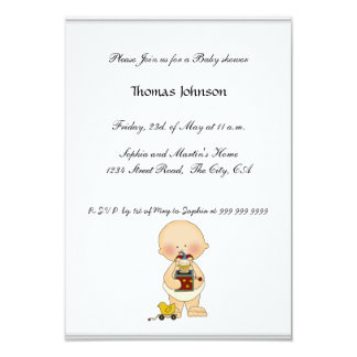 "Baby Shower Invitations baby boy girl 3.5"" X 5"" Invitation Card"