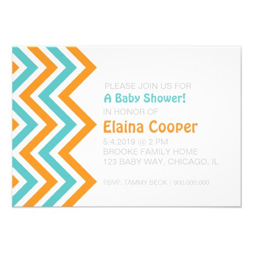 Baby Shower Invite | Chevron |duoor