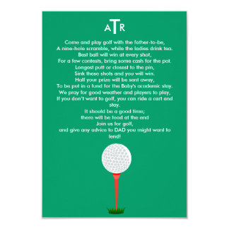 Baby Shower Invite for the Dad-to-Be Golf Outing
