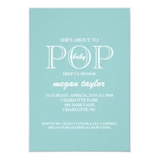 "Baby Shower Invite | POP |blu 3.5"" X 5"" Invitation Card"