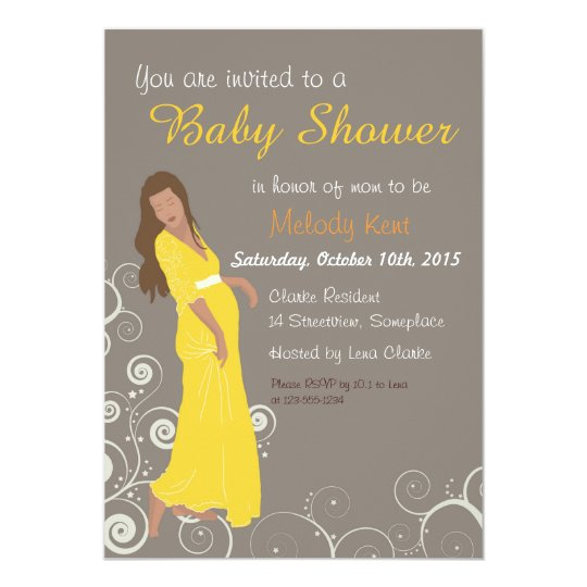 Baby shower invite style dress illustration