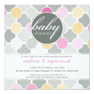 BABY SHOWER INVITES :: fizzy spots 3SQ