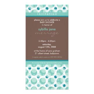 BABY SHOWER INVITES :: hello baby 1 Custom Photo Card