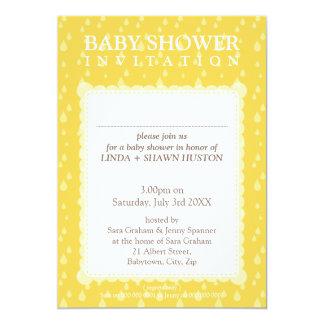 BABY SHOWER INVITES :: rain drops 10P