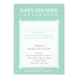 BABY SHOWER INVITES :: rain drops 5P