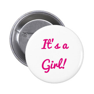 Baby Shower It's A Girl Gender Reveal Party Pink 6 Cm Round Badge