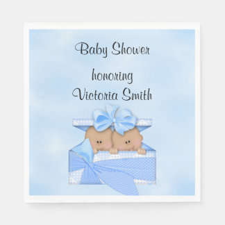 Baby Shower It's Twins Boy Ethnic Disposable Napkin