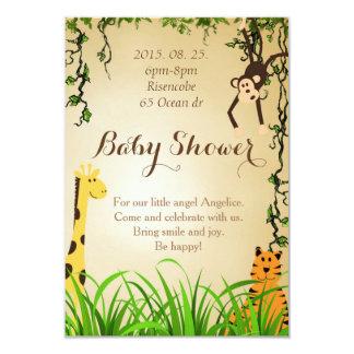 Baby Shower Jungle Invitation Giraffe Tiger Monkey