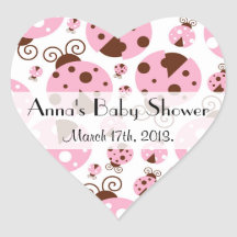 Baby Shower - Ladybugs, Ladybirds - Pink Brown