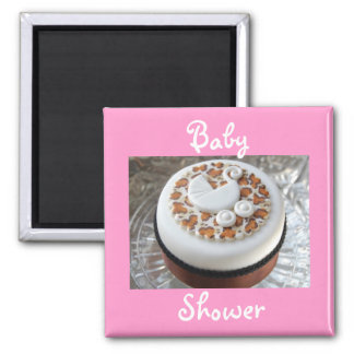 Baby Shower Leopard Print Fridge Magnet