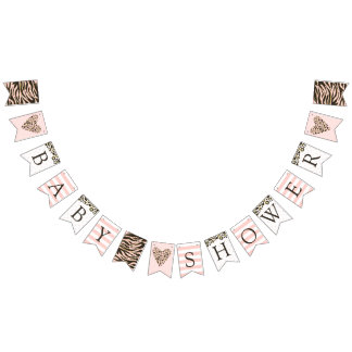 Baby Shower Leopard Spots & Tiger Stripes Bunting