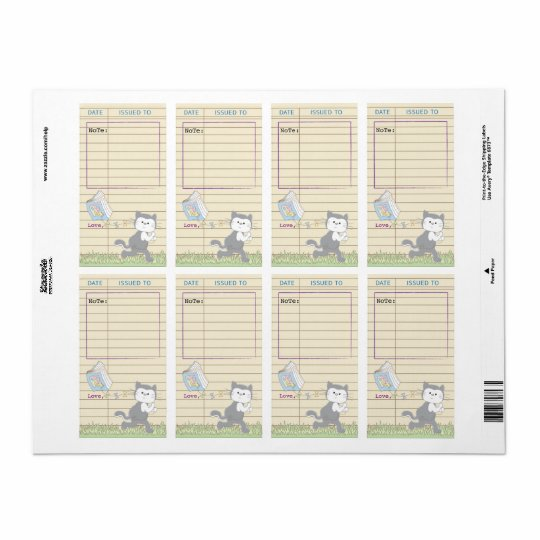 Baby Shower Library Book Bookplate Sheet of 8/Blue
