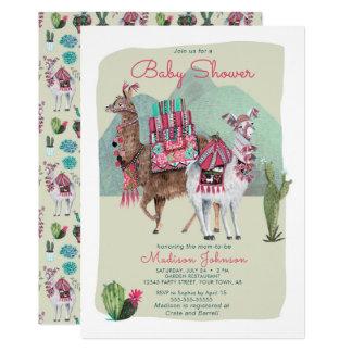 Baby Shower | Llamas & Cactus | Invitations