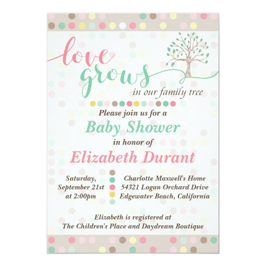 Baby Shower Love Grows In Our Family Tree
