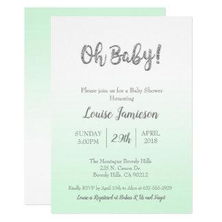 Baby Shower Mint Green Modern Gender Neutral Card