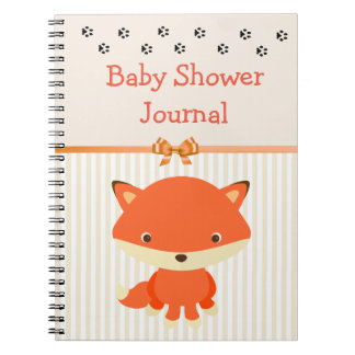 Baby Shower Notebook Journal, Forest Animal Theme