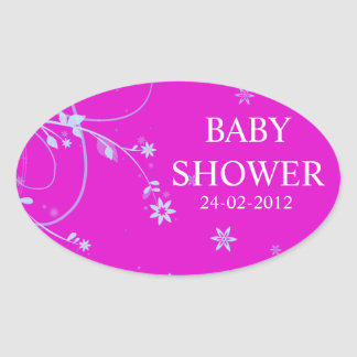 Baby Shower oval sticker
