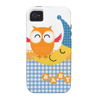 Baby Shower Owl Case-Mate iPhone 4 Cases
