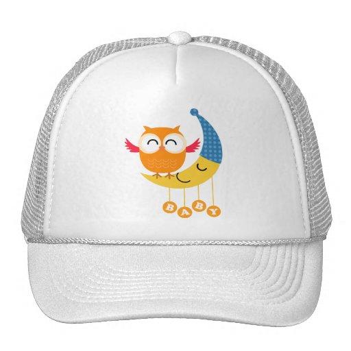 Baby Shower Owl Mesh Hats