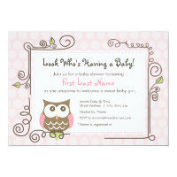 Baby Shower Owl Invite