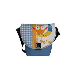 Baby Shower Owl Messenger Bag