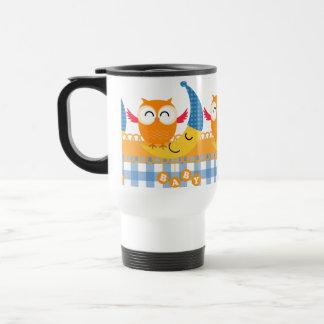 Baby Shower Owl Stainless Steel Travel Mug