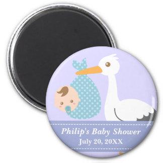 Baby Shower Party Favor - Stork Delivers Baby Boy Magnet