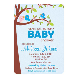 Baby Shower Party Invitation Boy
