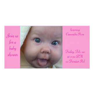 Baby Shower Personalized Photo Card