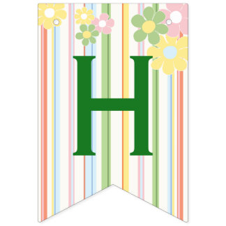 """Baby Shower """"Picnic Floral"""" Swallowtail Banner"""