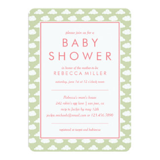 mint green baby shower invitations announcements