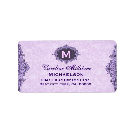 Baby Shower Pretty Vintage Frame Address Label